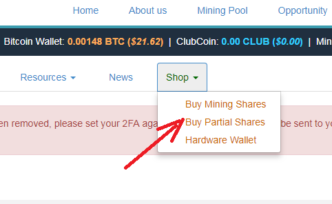 BitClub - Buy Partial Shares
