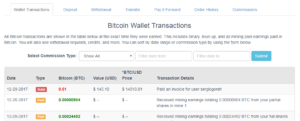 BitClub - Wallet Transaction